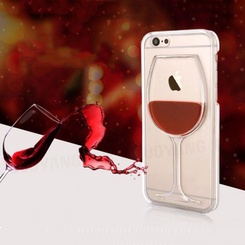 cool wine glass cover for iphone with real liquid